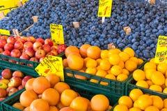 Ciruelos, manzanas y naranjas fotos de archivo libres de regalías