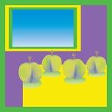 Ciruelos verdes Imágenes de archivo libres de regalías