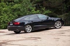 Cirugía estética negra Audi A5 2 0 años modelo de TDI 2012 Imágenes de archivo libres de regalías