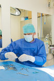 Cirugía para los animales Foto de archivo libre de regalías
