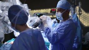 Cirugía robótica Robusteza médica almacen de video