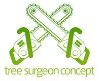 Cirujano de árbol Axe Cainsaw Concept Fotografía de archivo