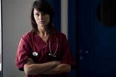 Cirujano de sexo femenino Foto de archivo
