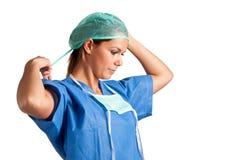 Cirujano de sexo femenino Imagenes de archivo