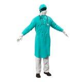 Cirujano Dress en el fondo blanco Imagen de archivo
