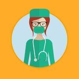 Cirujano en vestido médico Fotografía de archivo libre de regalías