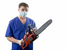 Cirujano horrible Fotografía de archivo