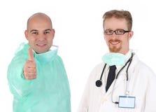 Cirujano y doctor Imágenes de archivo libres de regalías