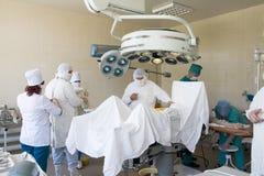 Cirujanos en el trabajo Foto de archivo