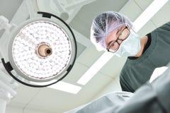 Cirujanos veterinarios en sala de operaciones Imagenes de archivo