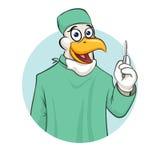 Cirurgião de Rooser com escalpelo Foto de Stock