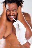 Cirurgia cosmética assustador Foto de Stock