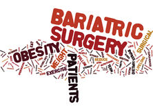 Cirurgia de Bariatric a solução rápida ao conceito da nuvem da palavra da obesidade ilustração royalty free