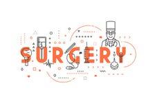 Cirurgia do conceito da medicina ilustração stock