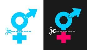 Cirurgia do reafectação de Transsexuality e de sexo Fotos de Stock