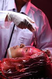 Cirurgia plástica criativa no modo vermelho de Tone Fashion Patient Female Imagens de Stock Royalty Free