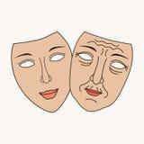 Cirurgia plástica facial do vetor Imagens de Stock Royalty Free