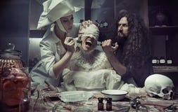 Cirurgia plástica no hospital abandonado Imagem de Stock Royalty Free