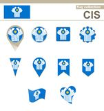 CIS Flag Collection stock illustratie
