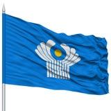 CIS Flag sur le mât de drapeau Image stock