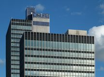 The CIS tower in manchester an office skyscraper built in 1962 as the headquarters of the co-operative banking group. Manchester, England - 12 september 2018 royalty free stock photo
