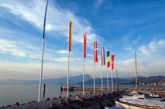 Cisano Port - Garda Lake Bardolino Italy stock images
