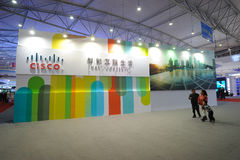 Cisco booth Stock Photos