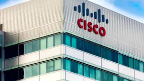 Cisco Facility in Silicon Valley stock footage