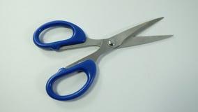 Ciseaux bleus Photo libre de droits