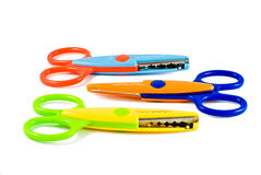 Ciseaux colorés Photographie stock