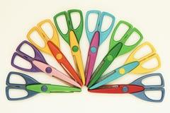 Ciseaux colorés Photos libres de droits