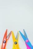 Ciseaux colorés avec Photo stock