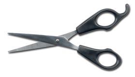 ciseaux d'isolement par coiffeur Photos libres de droits
