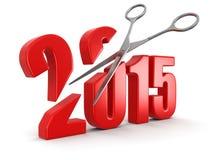 Ciseaux et 2015 Photographie stock libre de droits