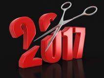 Ciseaux et 2017 Photographie stock