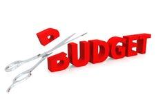 Ciseaux et budget Photographie stock libre de droits