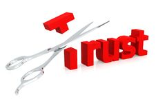 Ciseaux et confiance illustration de vecteur