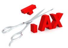 Ciseaux et impôt illustration stock