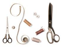 Ciseaux et outils de couture Photographie stock