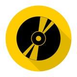 Ścisłego dyska ikona dla sieci z długim cieniem Obrazy Royalty Free