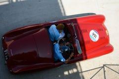 1948年Cisitalia 202 MM在Mille Miglia的Spyder Nuvolari 图库摄影