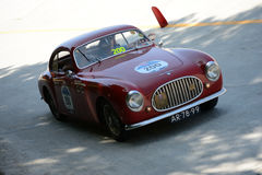 1950 Cisitalia 202 SC Berlinetta Pininfarina at the Mille Miglia. Monza circuit hosted a stage of the 2016 Mille Miglia stock images