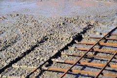 Ciskać betonowe podłoga Zdjęcia Royalty Free