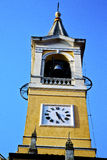 In cislago old abstract    italy   the   wall  and church tower Royalty Free Stock Photography