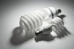 ścisli fluorescencyjni lightbulbs Obraz Royalty Free