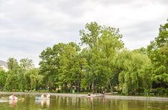 Cismigiu Garden landscape Stock Photos