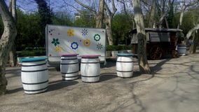Cismigiu Garden in spring season. Royalty Free Stock Photo