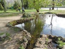 Cismigiu Garden in spring season. Stock Photos