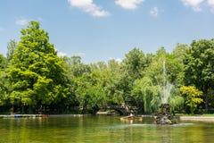 Cismigiu Gardens In Bucharest Stock Photo
