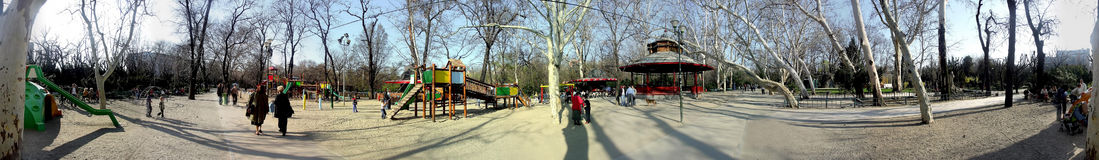 Cismigiu park 360 degrees panorama Stock Image